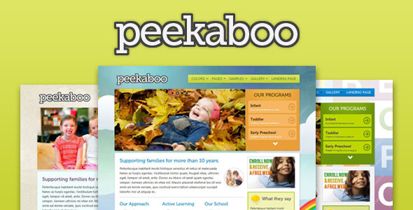 Peekaboo – Children Theme HTML Template, Gobase64