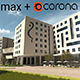 3dsmax + Corona Render Ready scene with day light setup - 3DOcean Item for Sale