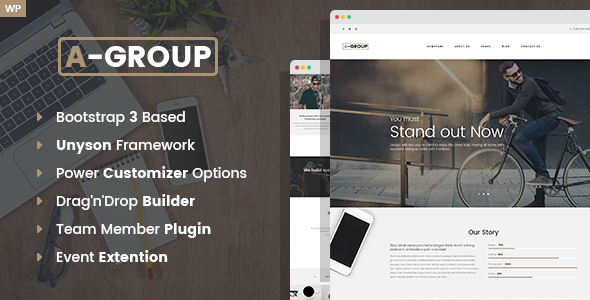 A-Group -  Business Company WordPress theme