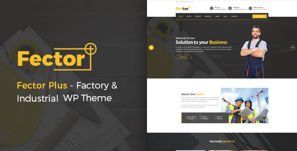 Fector Plus - Factory & Industrial WordPress Theme
