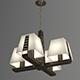 Vray Ready Modern Chandelier Light - 3DOcean Item for Sale