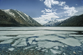Multinskoe lake with ice in Altai mountains, Russia - PhotoDune Item for Sale