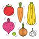 Vegetables Icon Set - GraphicRiver Item for Sale