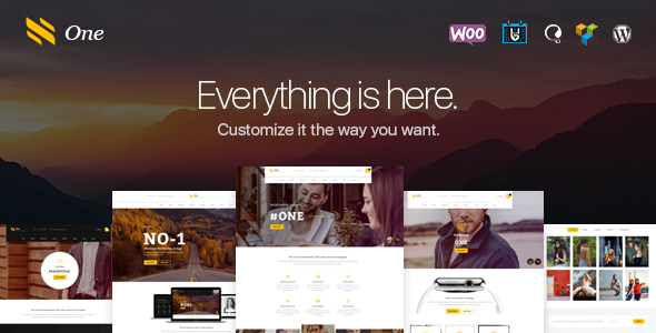 One - Business Agency Events WooCommerce Theme