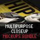 Multipurpose Closeup Mockups Bundle - GraphicRiver Item for Sale