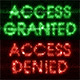 Words Access Granted and Access Denied Consisting of Binary Code - VideoHive Item for Sale