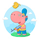 Small Hippo with a Gun - GraphicRiver Item for Sale