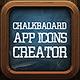 Chalkboard App Icon Pro Creator - GraphicRiver Item for Sale