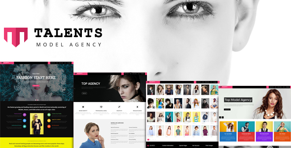 Talents -  Model Agency WordPress CMS Theme