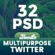 Multipurpose Twitter Header - 32 PSD - GraphicRiver Item for Sale
