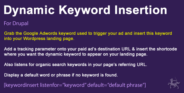 Dynamic Keyword Insertion for Drupal 7 & 8