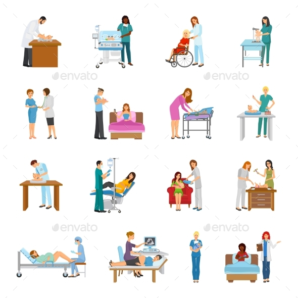Maternity Hospital Nursery Set