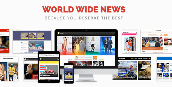 World Wide News - Magazine Responsive WordPress Theme
