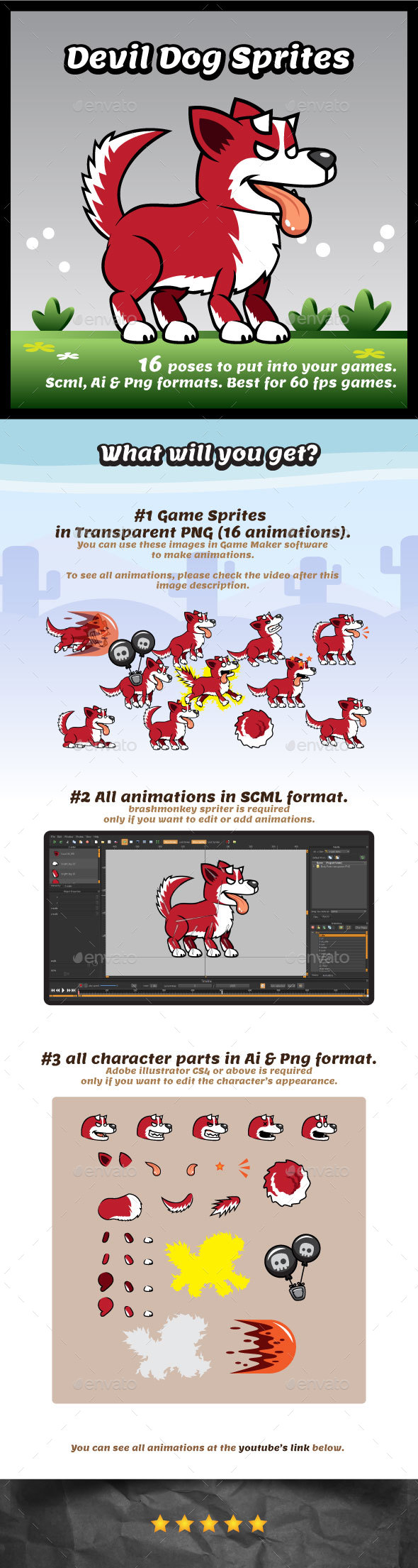 Dog Game Assets from GraphicRiver