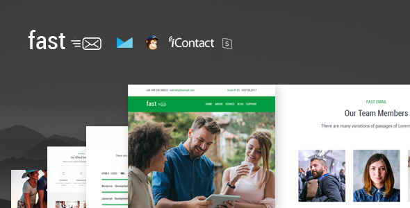 Fast - Responsive E-mail Template + Online Access