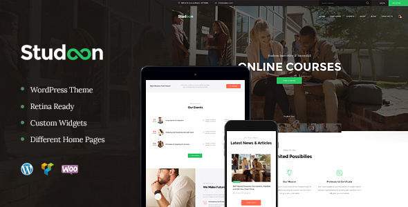 Download Studeon | An Education Center & Training Courses WordPress Theme nulled 01 Preview