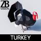 Lowpoly Turkey - 3DOcean Item for Sale