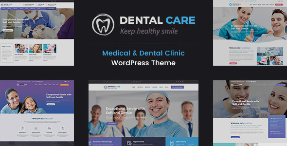 Dental Care - Medical and Teeth Clinic WordPress Theme