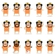 Set of Flat Firemen Cartoon Character Icons - GraphicRiver Item for Sale