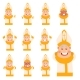 Set of Flat Cartoon Pope Icons - GraphicRiver Item for Sale