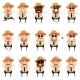 Set of Flat Police Men Icons - GraphicRiver Item for Sale