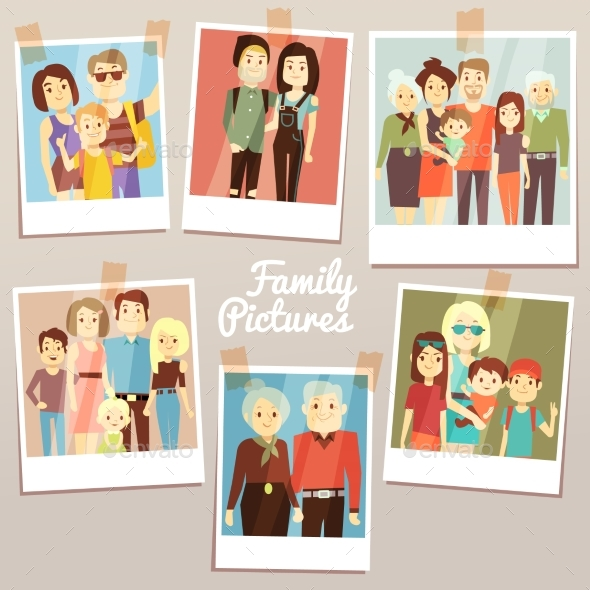 Happy Family Pictures with Different Generations