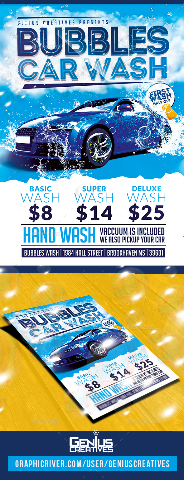 Car Wash Graphics Designs Templates From Graphicriver