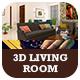 3D Living Room Interior - 3DOcean Item for Sale