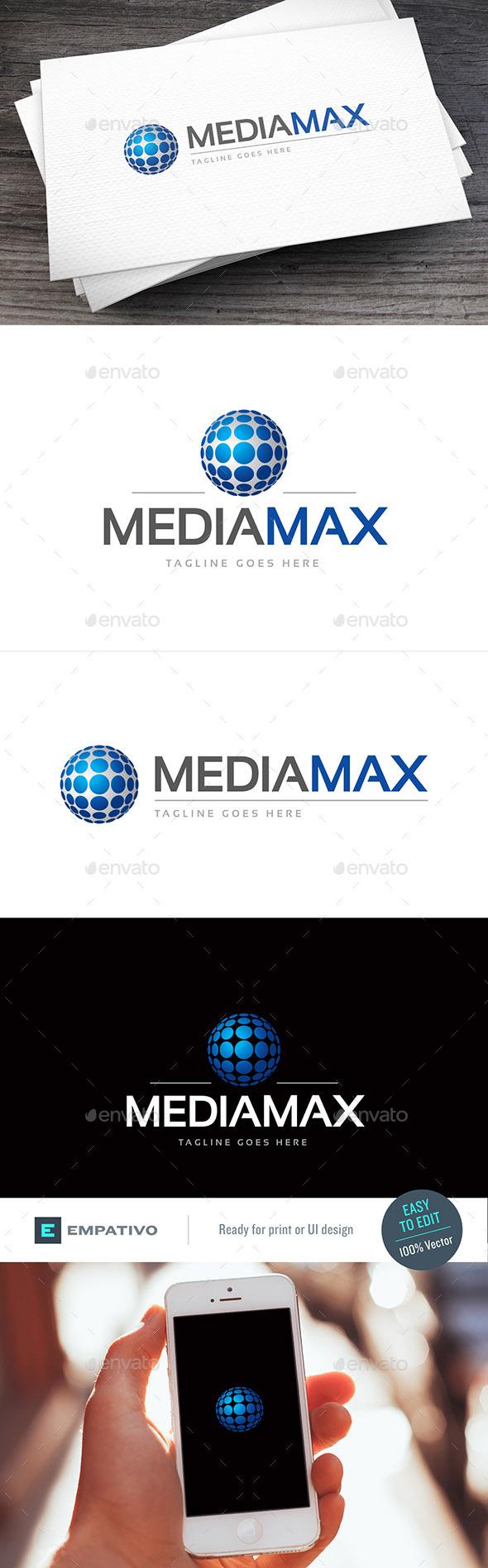 Mediamax Logo Template