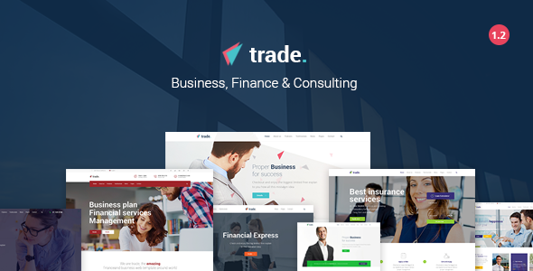 Trade - Business and Finance WordPress Theme