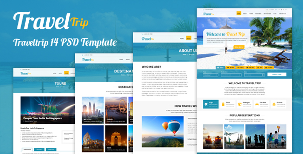 Travel Trip – Tour Package Booking PSD Template