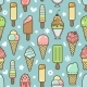 Vector Cute Colorful Ice Cream Seamless Pattern - GraphicRiver Item for Sale