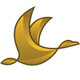 Gold Goose Bird Logo - GraphicRiver Item for Sale