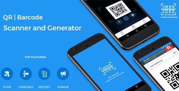 QR code and Barcode scanner and generator for Android with AdMob Download