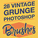 Vintage Grunge Photoshop Brushes - GraphicRiver Item for Sale