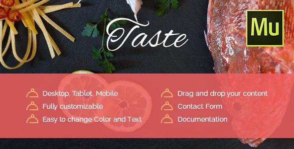 Taste - Restaurant, Cafe Muse Template