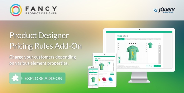 Fancy Product Designer Pricing Add-On | jQuery