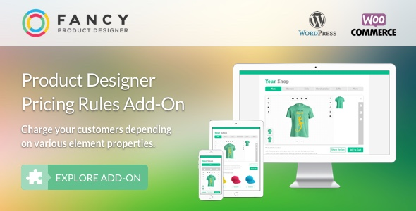 Fancy Product Designer Pricing Add-On | WooCommerce WordPress Download