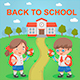 Pupils Back to School - GraphicRiver Item for Sale