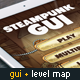Steampunk GUI with Industrial Level Map - GraphicRiver Item for Sale