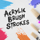 30 Acrylic Brush Strokes - GraphicRiver Item for Sale