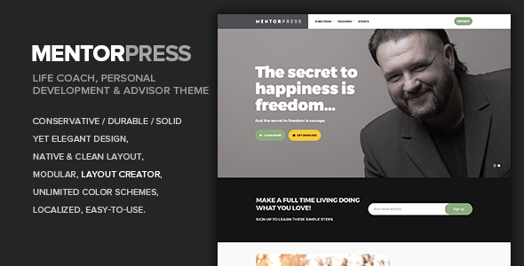 MentorPress - Life Coach & Advisor WordPress theme