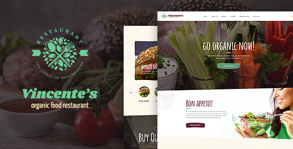 Vincente's | Organic Food Restaurant & Eco Cafe WordPress Theme