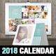 Wedding A3 Wall + A5 Desk 2018 Calendar Template - GraphicRiver Item for Sale