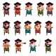 Set of Flat Pirate Icons - GraphicRiver Item for Sale