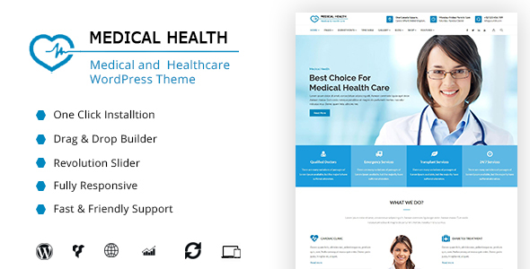 MedicalHealth - Doctor & Healthcare Clinic WordPress Theme