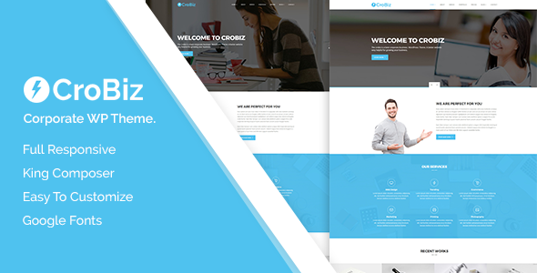 Crobiz - Corporate WordPress Theme