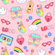 Hippie Style Patches and Stickers - GraphicRiver Item for Sale