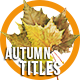 Autumn Titles 2 - VideoHive Item for Sale