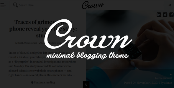 Crown - Minimal Blogging Theme